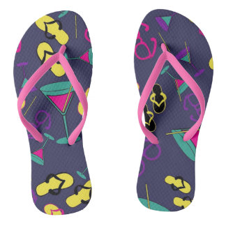Beachy Cocktails and Sandals Blue, pink and yellow