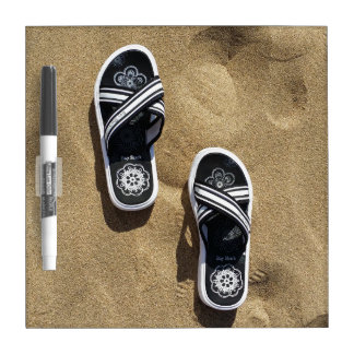 Beachy Flip Flops Dry Erase Board