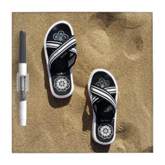 Beachy Flip Flops Dry Erase Whiteboard