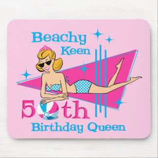 Beachy Keen 50th Birthday Mouse Pad