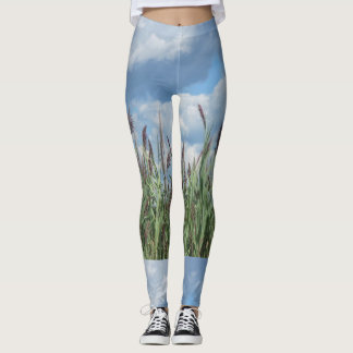 Beachy Marsh Grass Leggings