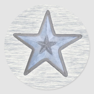 Beachy Star Classic Round Sticker