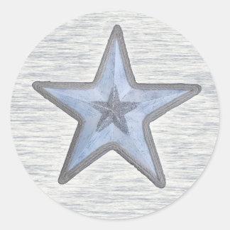 Beachy star on round sticker
