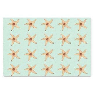 Beachy Starfish on Aqua matches Christmas Mermaid Tissue Paper