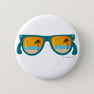 Beachy Sunglasses 2 Inch Round Button
