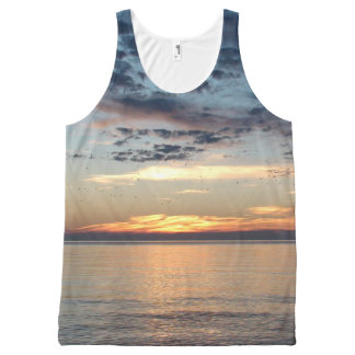 Beachy Sunset Printed Tank Top
