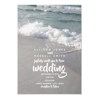 Beachy Waves Wedding Invitation