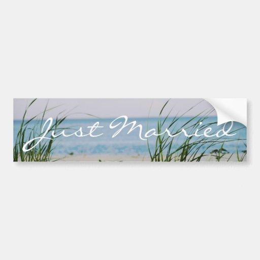 Beachy Wedding - Bumper Sticker