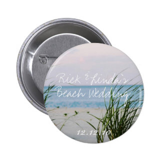 Beachy Wedding - Round Button