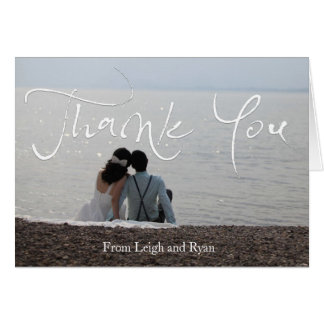 Beachy Wedding Thank You Cards