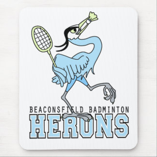 Beaconsfield Badminton Herons Mouse Pad