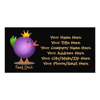 Bead Chick - Purple Card