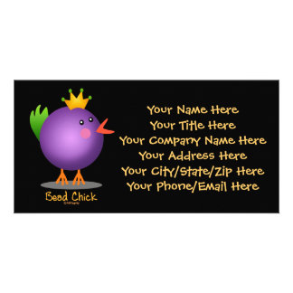 Bead Chick - Purple Customized Photo Card
