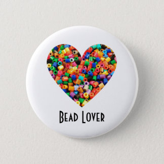Bead Lover 2 Inch Round Button