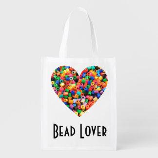 Bead Lover Reusable Grocery Bag