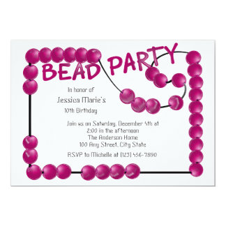 Bead Party Card