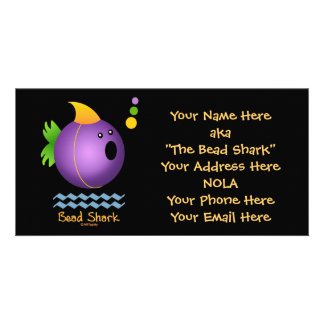 Bead Shark - Purple Picture Card