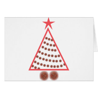 Beaded Christmas Tree Card