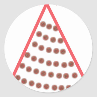 Beaded Christmas Tree Classic Round Sticker