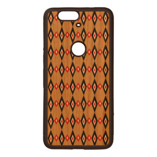 Beaded Diamonds Wood Nexus 6P Case