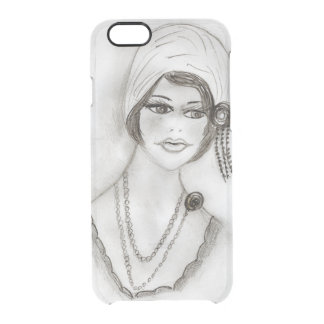 Beaded Flapper Girl Clear iPhone 6/6S Case