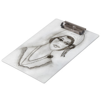 Beaded Flapper Girl Clipboards