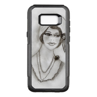 Beaded Flapper Girl OtterBox Commuter Samsung Galaxy S8+ Case