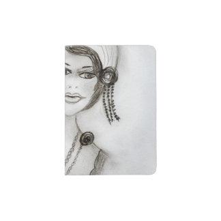 Beaded Flapper Girl Passport Holder