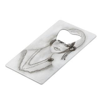 Beaded Flapper Girl Wallet Bottle Opener