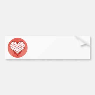 Beaded Heart Photo Frame Bumper Stickers