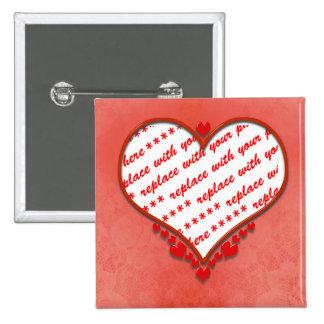 Beaded Heart Photo Frame Pin