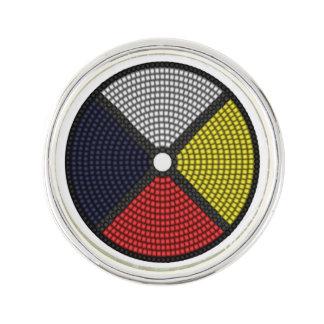 Beaded Medicine Wheel Lapel Pin