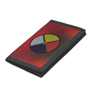 Beaded Medicine Wheel Tri-fold Wallets