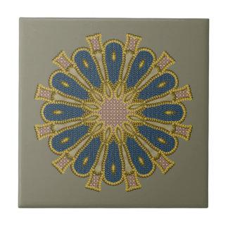 Beaded Patchwork Mandala Tile