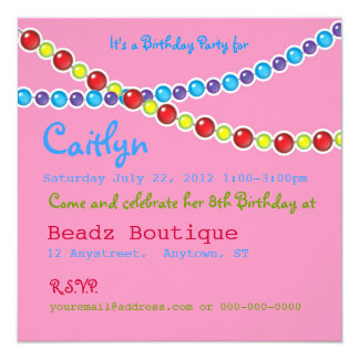 Beading Birthday Party Card