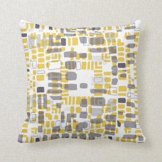Beads yellow throw pillow