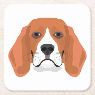 Beagle01_01_B_Quadrat.ai Square Paper Coaster