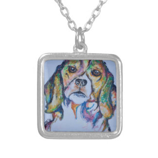 Beagle 1 silver plated necklace