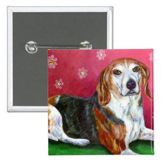 Beagle 2 Inch Square Button