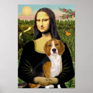 Beagle 7 - Mona Lisa Poster