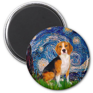 Beagle 7 - Starry Night Magnet