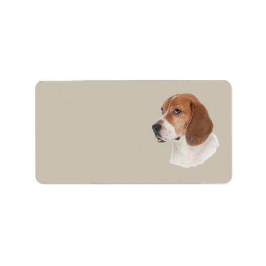 Beagle Address Label