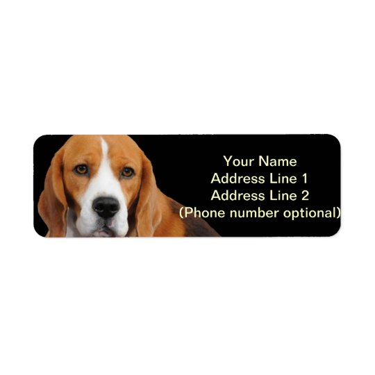 Beagle Address Sticker