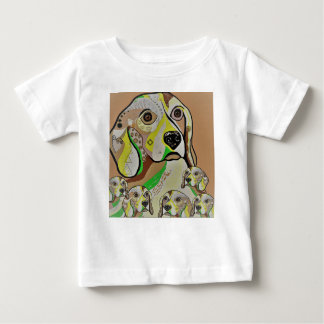 Beagle and Babies Brown Tones Baby T-Shirt