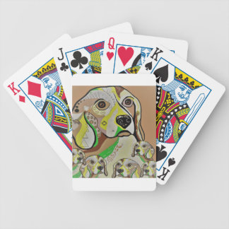 Beagle and Babies Brown Tones Bicycle Playing Cards