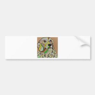 Beagle and Babies Brown Tones Bumper Sticker