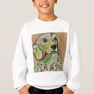 Beagle and Babies Brown Tones Sweatshirt