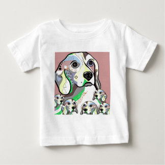 Beagle and Babies Soft Color Palette Baby T-Shirt