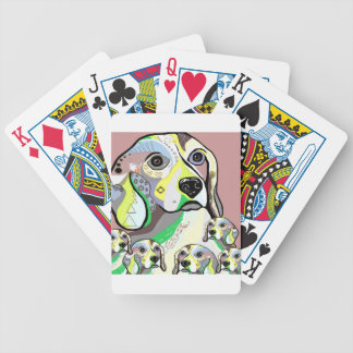Beagle and Babies Soft Color Palette Bicycle Playing Cards