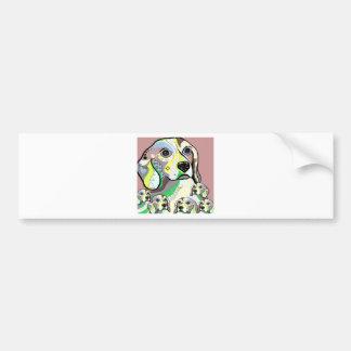 Beagle and Babies Soft Color Palette Bumper Sticker